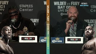 Full Deontay Wilder v Tyson Fury chaotic final press conference | Warning: contains bad language
