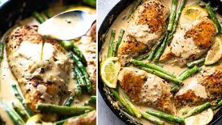 Creamy Lemon Chicken & Asparagus (30 Minutes!)