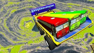BeamNG drive - Leap Of Death Car Jumps & Falls