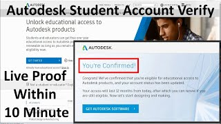 Verify AutoDesk Student Account | Get Any Autodesk software - AutoCAD - Revit - Maya - 3Ds Max