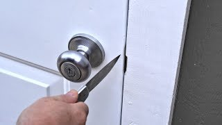 Open A Locked Door With A Knife? Door Security 101
