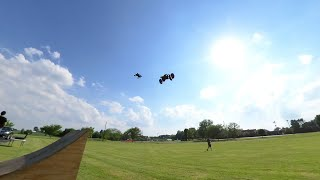 FPV Drone Collides With Arrma Kraton In Mid Air And Arrma Kraton 8S EXB With M2C Chassis Ramp Sends