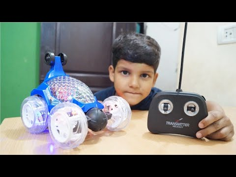 Kids Play with  Frozen Acrobatic Stunt Car Unboxing & Testing with Remote Control