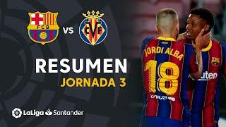 Resumen de FC Barcelona vs Villarreal CF (4-0)