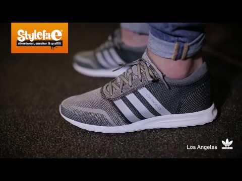 adidas Originals Los Angeles Sneaker grey black white (On-Feet) @Stylefile