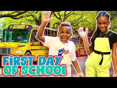Yaya and Dj's First Day of School