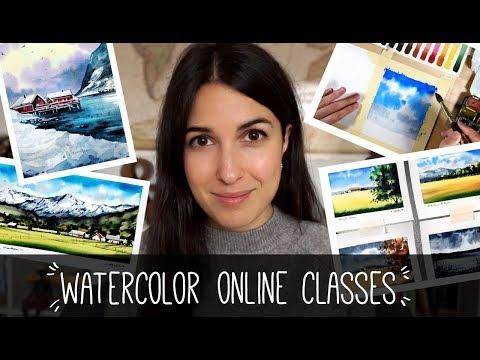 Watercolor online classes