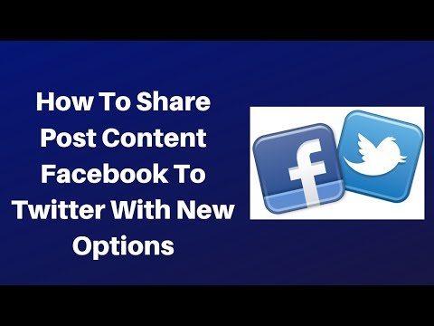 How to share post content facebook to twitter with new options
