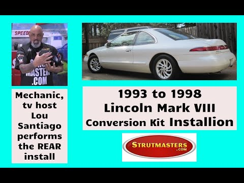 Lou Santiago 1994 Lincoln Mark VIII Strutmasters Strut Conversion Install Part 1 of 2