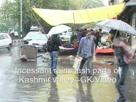 Incessant Rains Lash Kashmir Plains