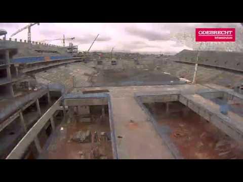Odebrecht publica vídeo com resumo de 27 meses das obras da Arena Corinthians em 1 minuto
