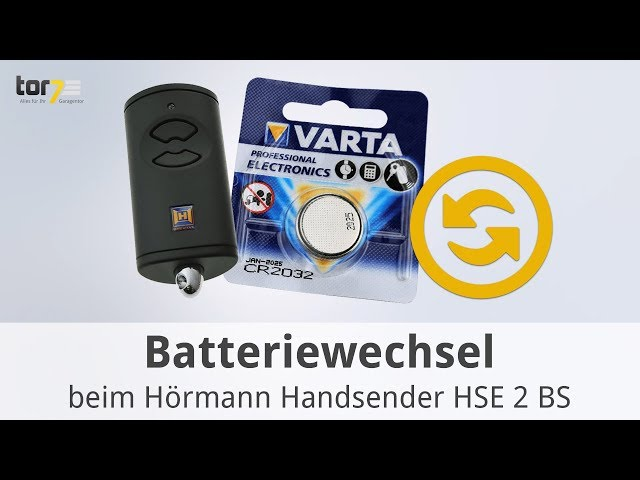 Produktvideo Hörmann Handsender HSE 2, BiSecur, Silber