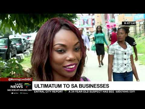 Nigerian students issue ultimatum to SA businesses