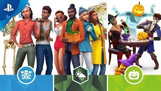 The Sims 4 Console Bundle - Seasons, Jungle Adventure and Spooky Stuff | PS4