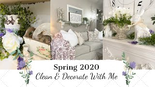 ✨NEW✨SPRING 2020🌿🌷  CLEAN & DECORATE WITH ME   FRENCH COUNTRY FARMHOUSE STYLE   MONICA ROSE