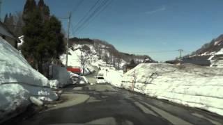 大蔵村、肘折温泉郷を走る.mp4