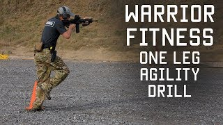 One Leg Agility Shooting Drill | Warrior Fitness | Tacletics | Tactical Rifleman