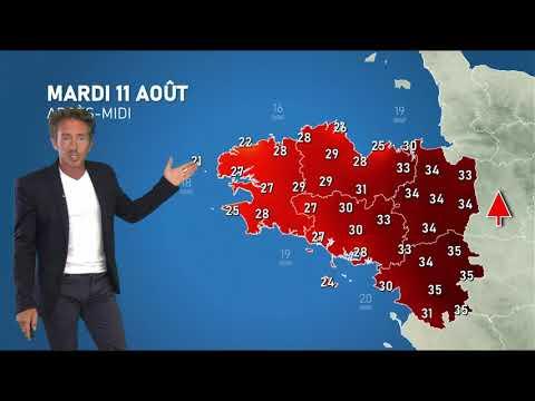 Illustration de l'actualité Bulletin météo pour le mardi 11 août 2020: fortes chaleurs sur l'est de notre région