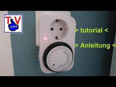 Zeitschaltuhr einstellen analog / mechanical pin timer clock set up