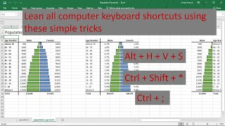 How to teach yourself all computer keyboard shortcuts in the world in less than 3 mins (secret)