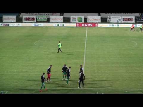 Najciekawsze fragmenty meczu Stomil Olsztyn - GKS Katowice
