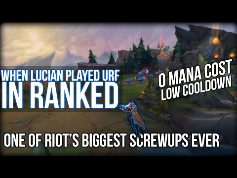 When Lucian Broke League of Legends... 6 Years Later | URF in Solo Queue