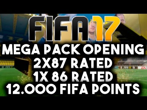 FIFA 17 ULTIMATE TEAM - MEGA PACK OPENING 12.000 FIFA POINTS !