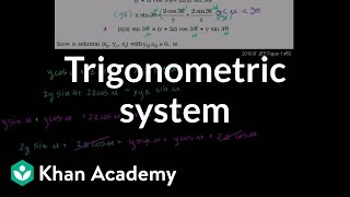 Trigonometric System Example