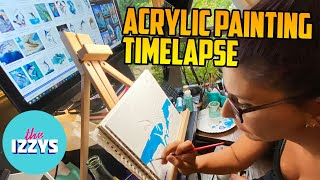 Timelapse: AN ACRYLIC PAINTING OF A FISH!
