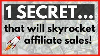 This ONE Affiliate Marketing Tip Will Skyrocket And Increase Sales Online!