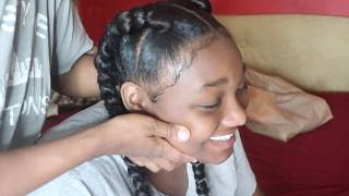QUICK | EASY| HAIR STYLE | TWO BRAIDS | RUBBERBAND METHOD