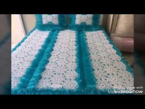 مفارش سرير كروشيه للعرائس