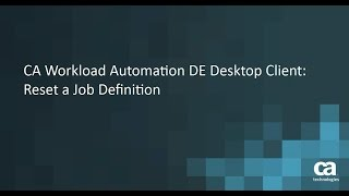 CA Workload Automation CA 7 Edition jobs - Free video search