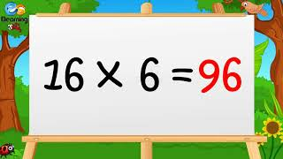 Learn Multiplication Table of Sixteen 16 x 1 = 16 - 16 Times Tables