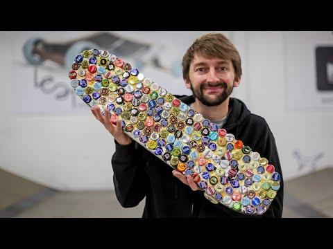 The Fallout 76 Bottle Cap Skateboard