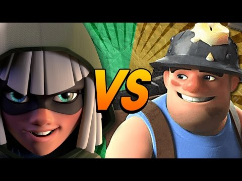 RAP BATTLE EPICA: Minatore vs Fuorilegge [Clash Royale]
