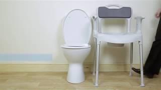 Toaletní a sprchová židle Etac SWIFT KOMMOD - Etac Swift kommod - Názorná montáž a použití
