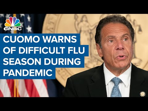 New York Gov. Andrew Cuomo warns of difficult flu season as Covid-19 spreads in the U.S.