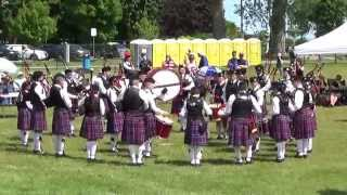 preview picture of video 'Glengarry Pipe Band Grade 3 Cobourg 2014'