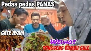 PEDAS-PEDAS PANAS Menyatu DiLidah *Tongseng Kambing Dengan Bumbu Gule + Sate Ayam*