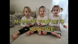 Sama w domu z trojaczkami - RUTYNA | Mom of triplets - ROUTINE