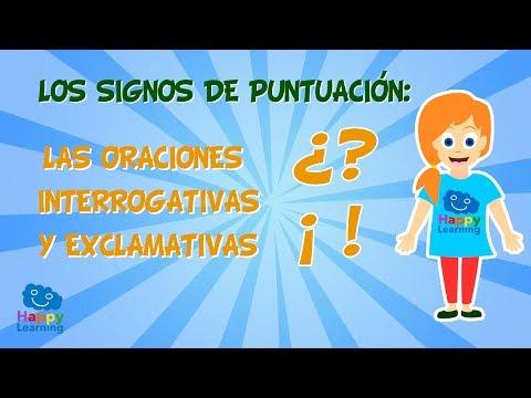 Los signos de puntuación: Las oraciones interrogativas y exclamativas   Vídeo Educativo para Niños