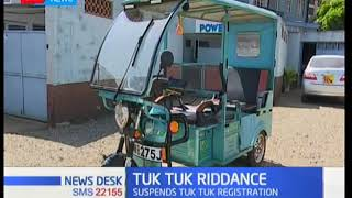 Mombasa County government suspends further registration of Tuk tuk vehicles