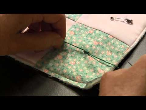 Hand Tying a Quilt