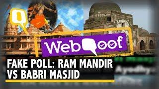 Don't Fall for That Viral 'Ram Mandir vs Babri Masjid' Voting Link   The Quint