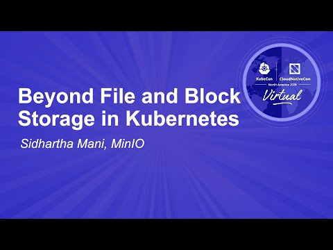 Image thumbnail for talk Beyond File and Block Storage in Kubernetes