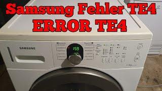 Samsung Trockner Fehlermeldung TE4   Fehlercode TE4 lösen TE1 TE2 TE3 TE5