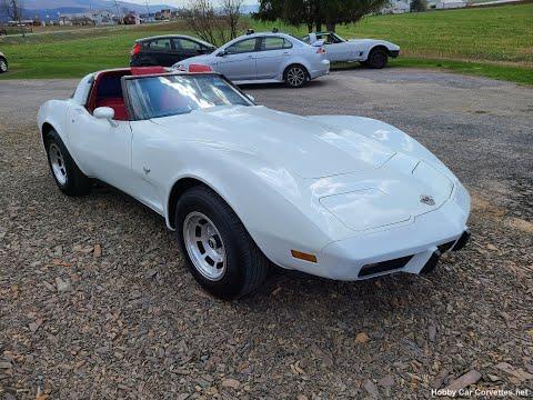 1978 Classic White Corvette T Top Video