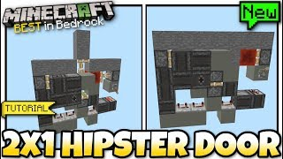 Minecraft - 2x1 EXPANDABLE HIPSTER DOOR [ Redstone Tutorial ] MCPE / Bedrock / Xbox / Switch