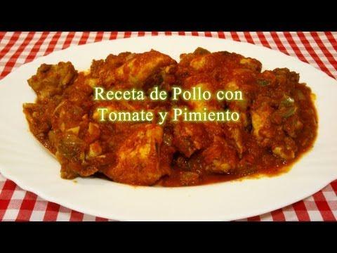 Pollo con tomate y pimiento receta simple